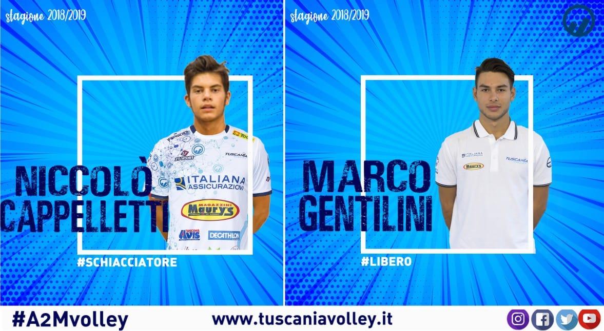 Gentilini e Cappelletti completano il roster del Tuscania Volley