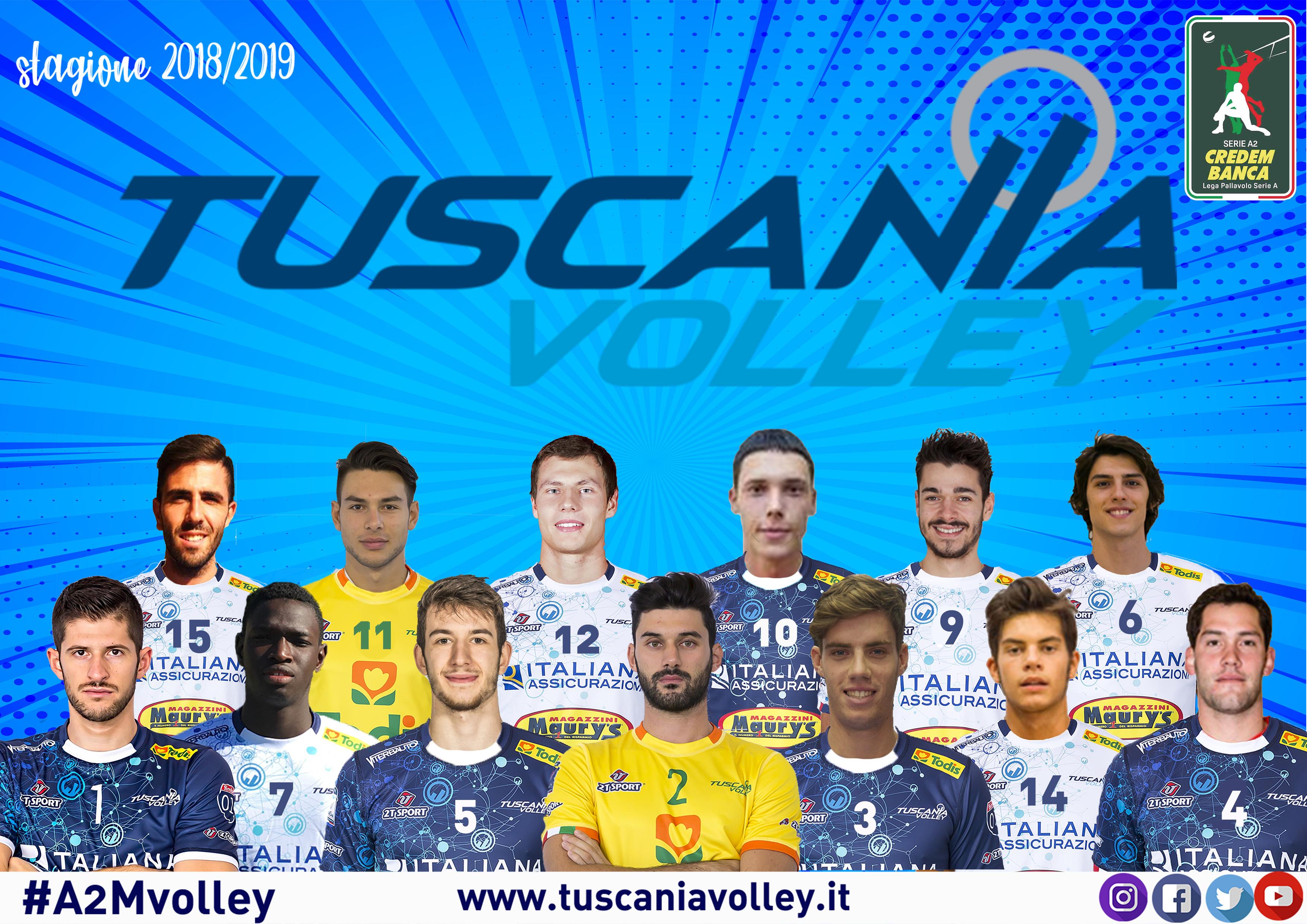 Tuscania Volley 18/19, svelati i numeri di maglia