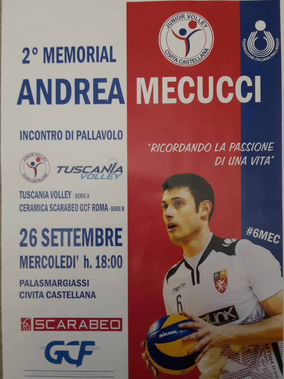 "Il Tuscania Volley mercoledì al Memorial ""Andrea Mecucci"" di Civita Castellana"